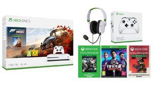Amazon Prime Day – Xbox One S avec 2 manettes, 4 jeux et un casque-micro à 229€