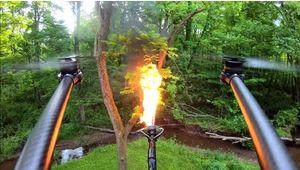 Un nouvel accessoire pour drones arrive sur le marché : le lance-flammes