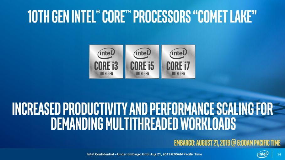 Intel agrandit sa 10e génération de processeurs Core avec