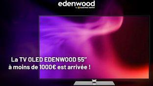 TV Edenwood Oled : un téléviseur Oled 55 pouces à moins de 1 000 €
