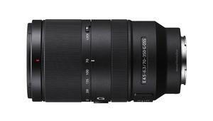 Avec les objectifs E 16-55mm F2.8 G et E 70-350mm F4.5-6.3 G OSS, Sony étoffe sa gamme APS-C