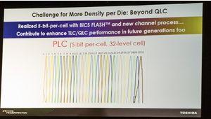 Toshiba : vers de la mémoire PLC plus dense… mais plus lente et moins durable
