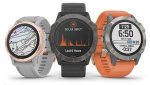 Garmin lance la gamme de montres Fenix 6 avec de la recharge à l'énergie solaire