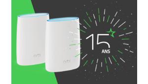 Les 15 ans des Numériques / Gagnez un kit Wi-Fi Netgear Orbi RBK53S