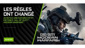 Bon plan – Call of Duty: Modern Warfare offert avec les GeForce RTX 20