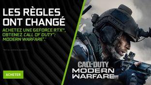 Bon plan – Call of Duty: Modern Warfare offert avec les GeForce RTX 20