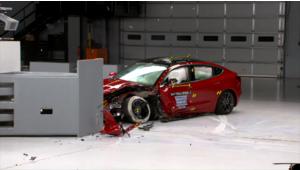 Tesla Model 3, voiture électrique la plus sûre aux crash-tests