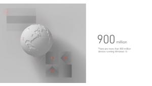 Microsoft Windows 10 a été installé sur 900 millions de machines