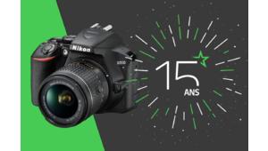 Les 15 ans des Numériques – Gagnez un reflex Nikon D3500 et son kit