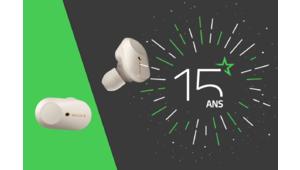 Les 15 ans des Numériques – Gagnez les intras true wireless Sony WF-1000XM3 !