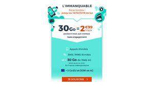 Bon plan – Cdiscount Mobile renouvelle son forfait 30Go à 2,99€/mois