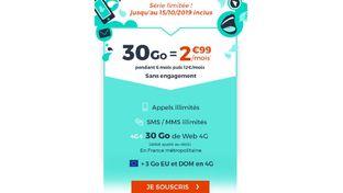 Bon plan – Cdiscount Mobile renouvelle son forfait 30 Go à 2,99 €/mois