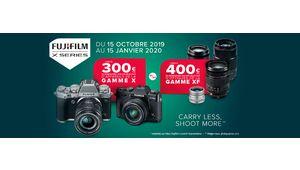 Fujifilm ODR : jusqu'à 400 € de remboursés sur une sélection d'appareils et d'optiques