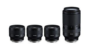 Tamron annonce un zoom et trois focales fixes pour Sony FE