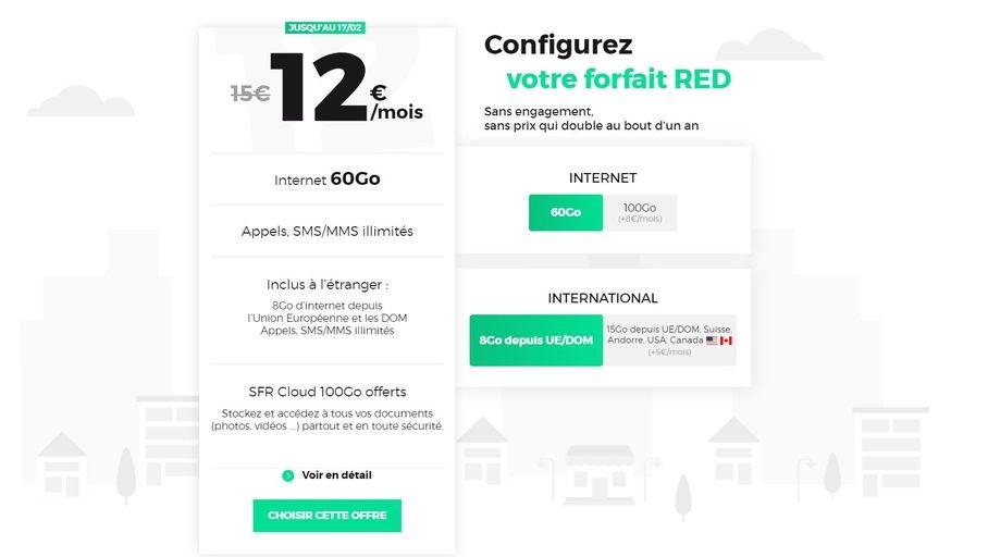 Bon plan – Plus que quelques heures pour le forfait RED by SFR 60 Go à 12€/mois