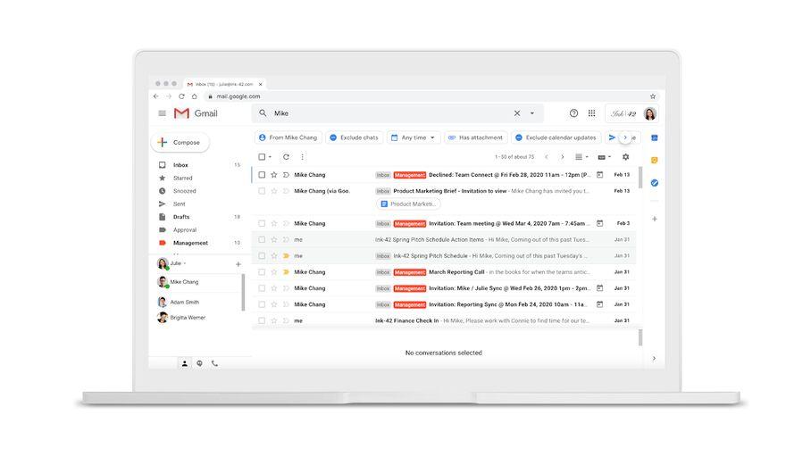 Gmail se dote de filtres intuitifs pour affiner les recherches de messages