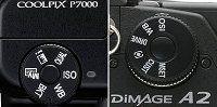 Nikon p7000 molettes dimage a2