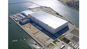 Zoom photo : une usine de dalles IPS à tendance green