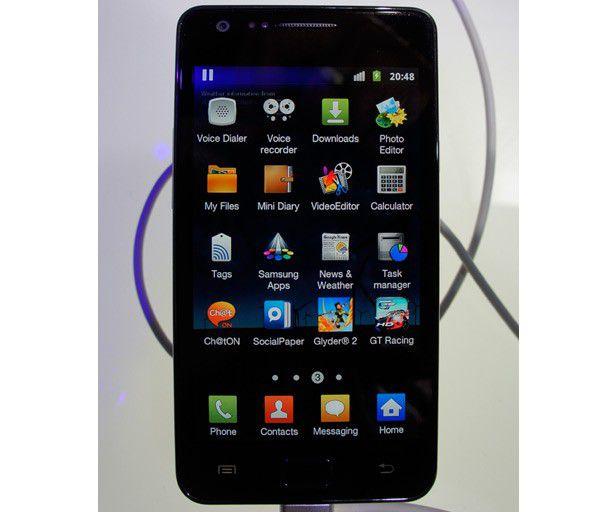Samsung galaxy s2 menu