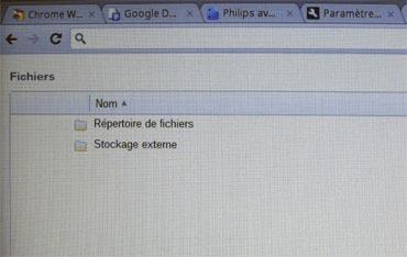 Chromebook serie5 fichier