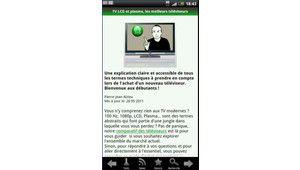 Mise à jour de l'application Les Numériques sur Android