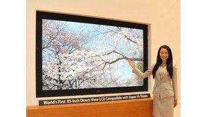 Un téléviseur Sharp 8K, 7680 x 4320 pixels, sur l'IFA