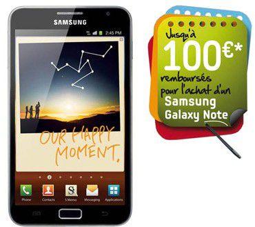 Samsung galaxy note remboursement