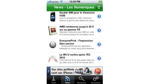 Application iPhone Les Numériques : mise à jour