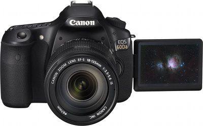 Canon eos 60da face ecran