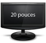 20 pouces lcd