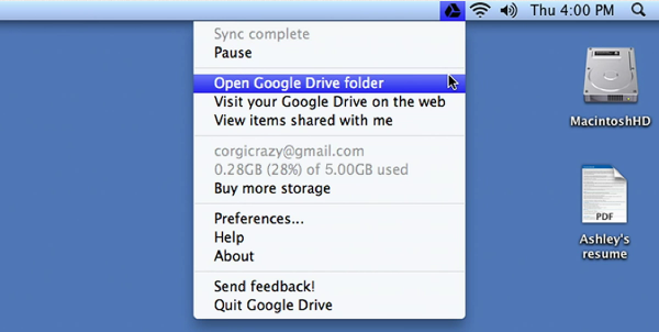 Google drive apple