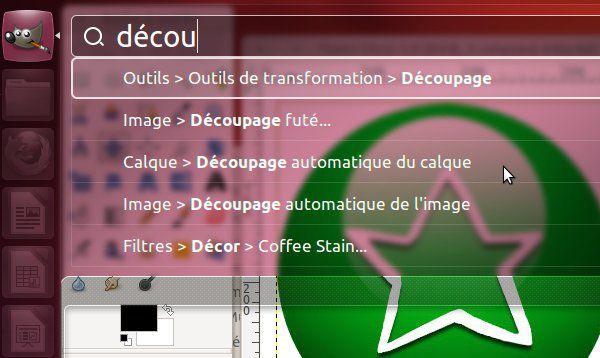 Ubuntu unity recherche menus decou