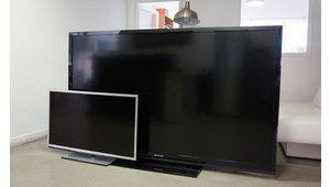 Le TV Sharp 80'' est arrivé au labo