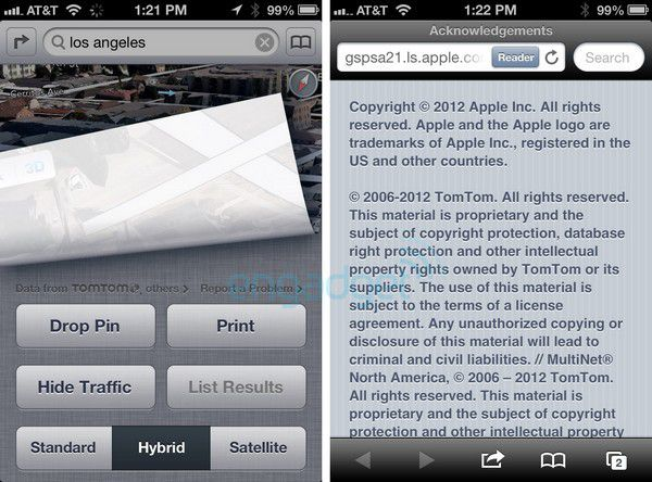 Maps iOS6 TomTom engadget