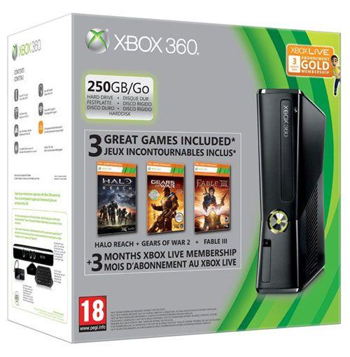 XBOX 360 250 Go 3Games