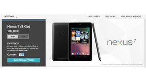 Nexus 7 : en vente sur le Google Play Store