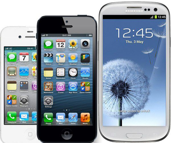Iphone 4 galaxy s3 600