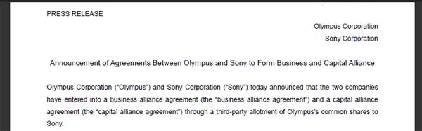 Sony olympus