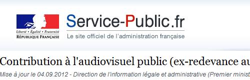Contribution audiovisuel public ex redevance audiovisuelle