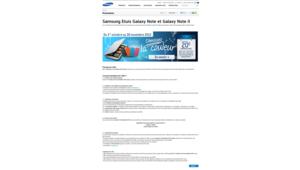 MAJ Un rabat gratuit pour Galaxy Note, merci l'ODR Samsung
