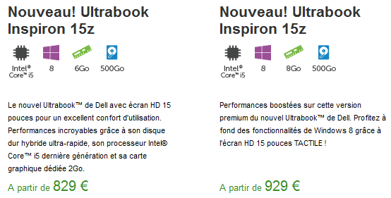 Inspiron 15z dell tactile