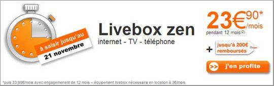 Promo livebox zen
