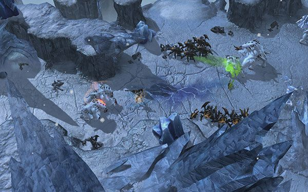 StarCraft 2 Heart of the Swarm Snow