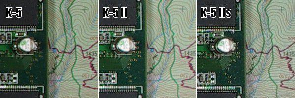 Pentax K 5 vs K 5 II vs K 5 IIs
