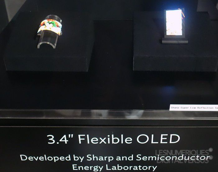 Sharp écran flexible