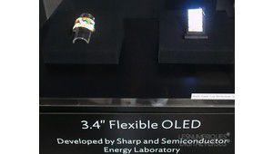 Sharp et son écran OLED flexible de 3,4