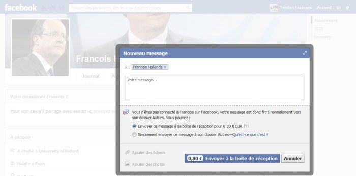 Francois hollande facebook petit