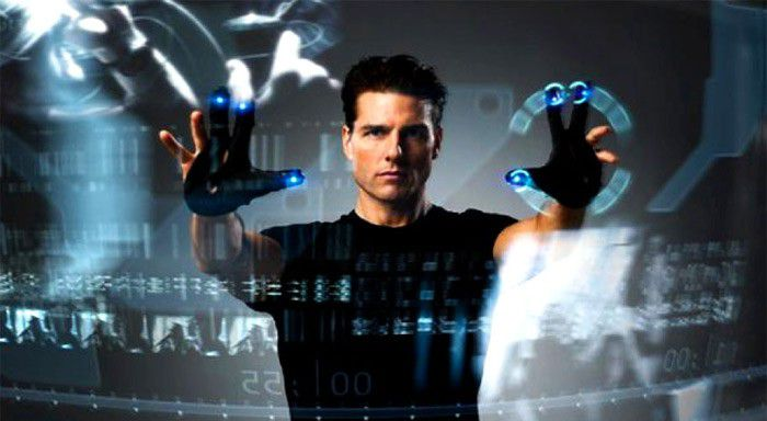 Minority report tactile