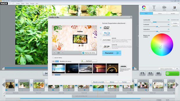 Video easy 5 HD interface