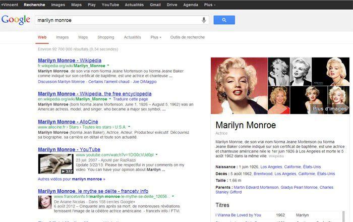 Marilyn Monroe google